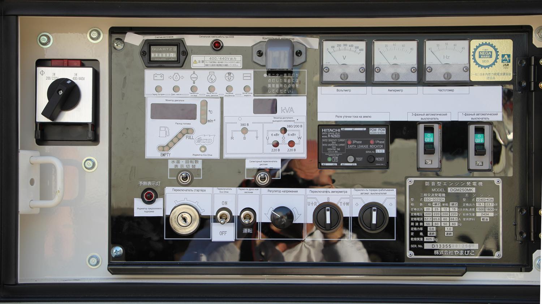 Фото панели управления с русским переводом